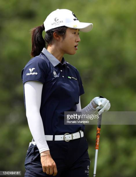 Yu Liu of China plays an approach shot on the 10th hole during the first round of the Energy Producers Inc Texas Women's Open on June 02 2020 in The...