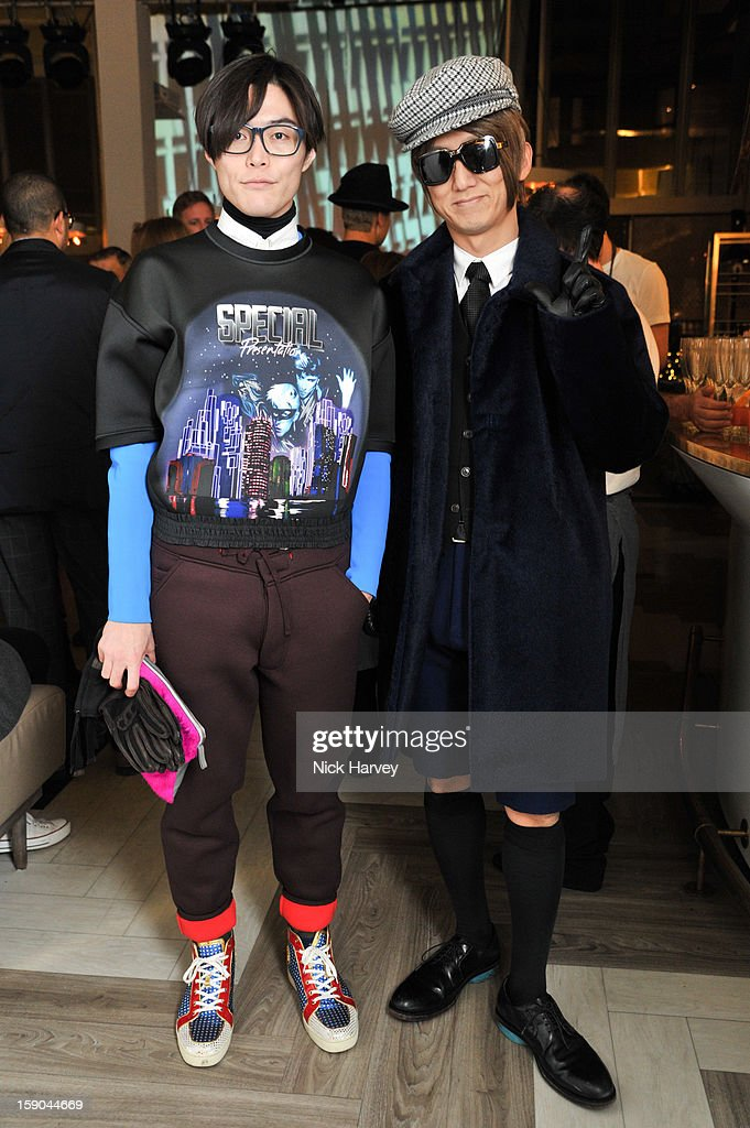 Yu Masui and Guest attends the launch of 1205 Paula Gerbase Hosted By Harvey Nichols ahead of the London Collections: MEN AW13 at on January 6, 2013 in London, England.