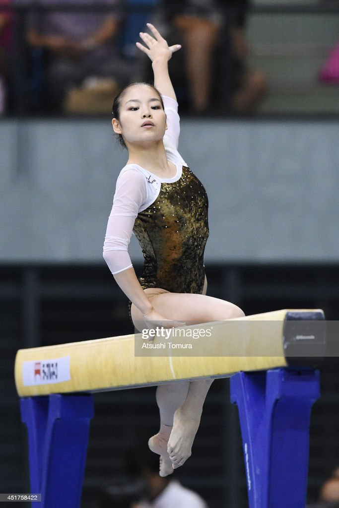 Yu Minobe of Japan competes in the Balance Beam during the 68th All Japan Gymnastics Apparatus Championships on July 6, 2014 in Chiba, Japan.