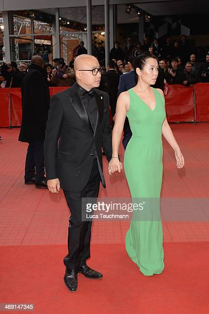 Yu Nan and Xu Zheng attend 'No Man's Land' premiere during 64th Berlinale International Film Festival at Berlinale Palast on February 13 2014 in...