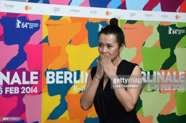 Yu Nan attends 'No Man's Land' press conference during 64th Berlinale International Film Festival at Grand Hyatt Hotel on February 13 2014 in Berlin...