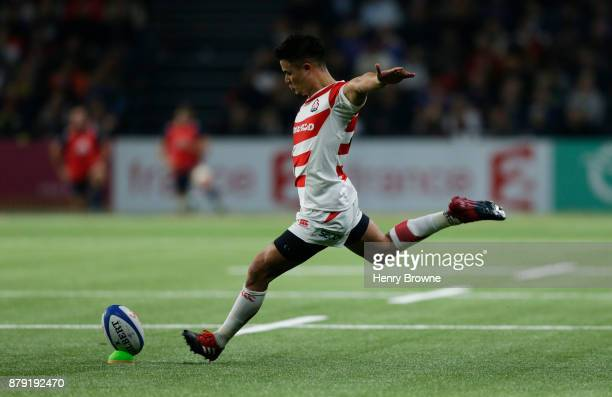 Yu Tamura of Japan during the international rugby union match between France and Japan at U Arena on November 25 2017 in Nanterre France
