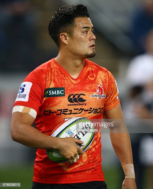 Yu Tamura of the Sunwolves during the Super Rugby match between the Cell C Sharks and Sunwolves at Growthpoint Kings Park on July 15 2016 in Durban...