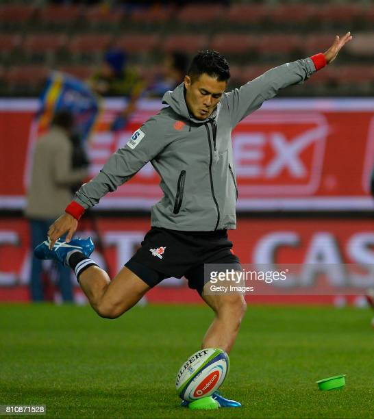 Yu Tamura of the Sunwolves prior the Super Rugby match between DHL Stormers and Sunwolves at DHL Newlands on July 08 2017 in Cape Town South Africa