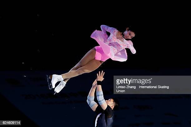 Yu Xiaoyu and Zhang Hao of China perform during the Exhibition Program on day three of Audi Cup of China ISU Grand Prix of Figure Skating 2016 at...