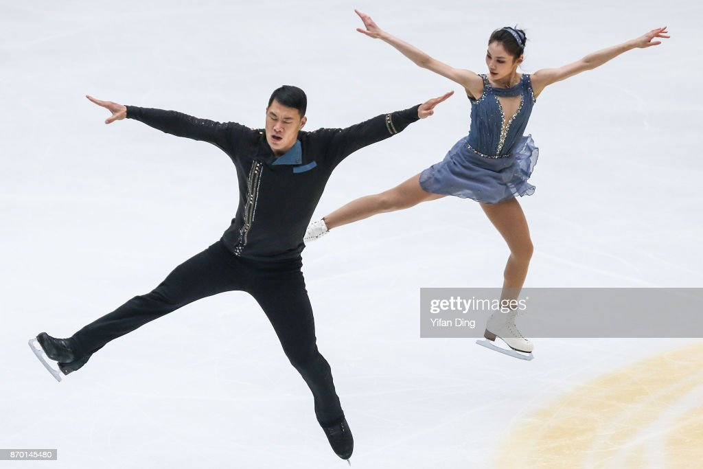 Yu Xiaoyu and Zhang Hao of China perform during the Pairs Free Skating on Day 2 of Audi Cup of China ISU Grand Prix of Figure Skating 2017 at Beijing Capital Gymnasium on November 4, 2017 in Beijing, China.
