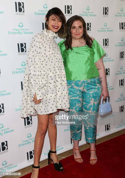 Yu Yamada and Lena Dunham attend the 'Friendly House' 30th annual awards luncheon at The Beverly Hilton Hotel on October 26 2019 in Beverly Hills...