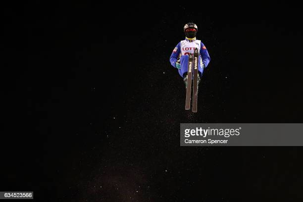 Yu Yang of China competes in the FIS Freestyle Ski World Cup 2016/17 Ladies Aerials final at Bokwang Snow Park on February 10 2017 in Pyeongchanggun...