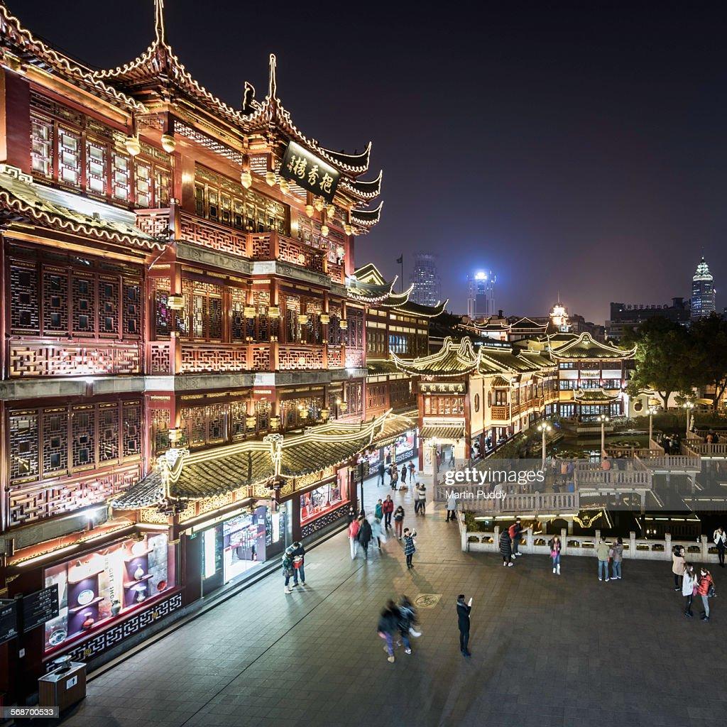 Yu Yuan teag gardens at night : Stock Photo