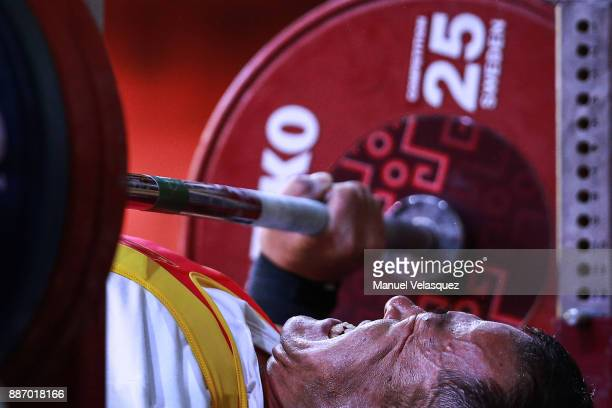 Yu Zheng of China competes during the Men's Up to 49Kg Group A Category as part of day 3 of the World Para Powerlifting Championship Mexico 2017 at...