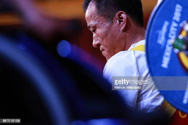 Yu Zheng of China concentrates before the Men's Up to 49Kg Group A Category as part of day 3 of the World Para Powerlifting Championship Mexico 2017...