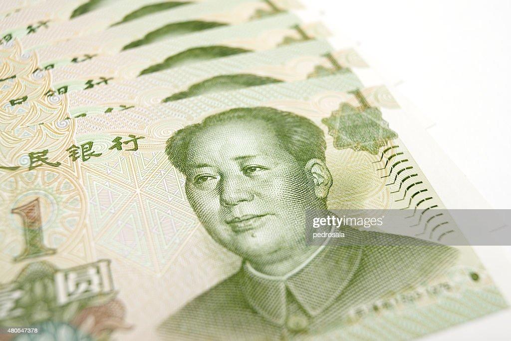 Yuan banknotes : Stock Photo
