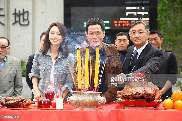 Yuan Quan attended opening ceremony of movie The Cartel War on Wednesday January 23, 2013 in Hong Kong, China.