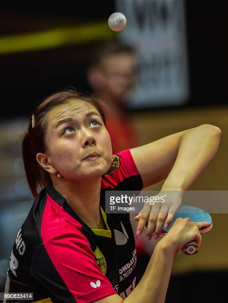 Yuan wan of Germany in action during the Table Tennis World Championship at Messe Duesseldorf on May 30, 2017 in Dusseldorf, Germany.