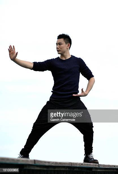 Yuan Xiaochao from the film Tai Chi O poses at a portrait session during the 69th Venice Film Festival at the Lancia Cafe on August 30 2012 in Venice...