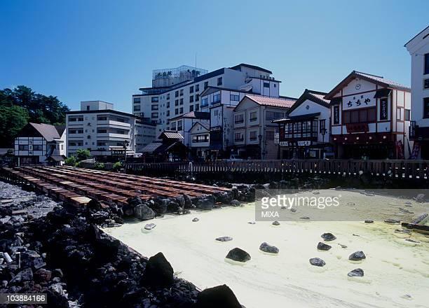 Yubatake of Kusatsu Onsen, Kusatsu, Agatsuma, Gunma, Japan