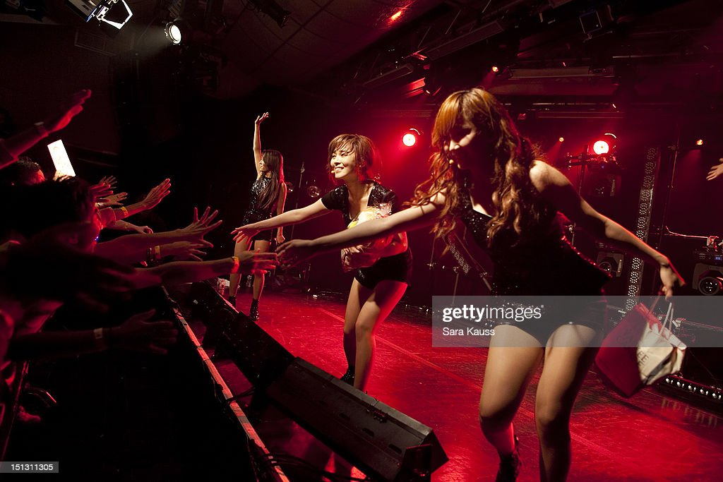 Yubin, Sun and Yenny of Wonder Girls perform onstage at iHeartRadio Presents Wonder Girls at iHeartRadio Performance Theater on September 5, 2012 in New York City.