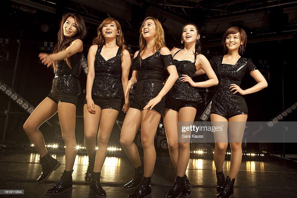 Yubin, Yenny, Lim, Sohee and Sun of Wonder Girls perform onstage at iHeartRadio Presents Wonder Girls at iHeartRadio Performance Theater on September 5, 2012 in New York City.