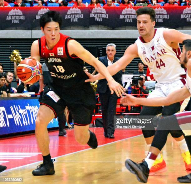 Yudai Baba of Japan in action during the FIBA World Cup Asian Qualifier 2nd Round Group F match between Japan and Qatar at Toyama City Gymnasium on...