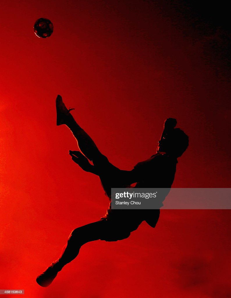 Yudi Pornomo of Indonesia warms up prior to the start of the Men's Team Double Final of the Sepak Takraw Competition between Indonesia and Burma during the 2013 SEA Games at the Wunna Theikdi Inddor Stadium on December 20, 2013 in Nay Pyi Taw, Burma.
