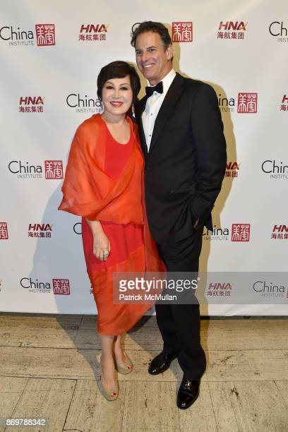 YueSai Kan and Allan Pollack attend China Institute 2017 Blue Cloud Gala at Cipriani 25 Broadway on November 2 2017 in New York City