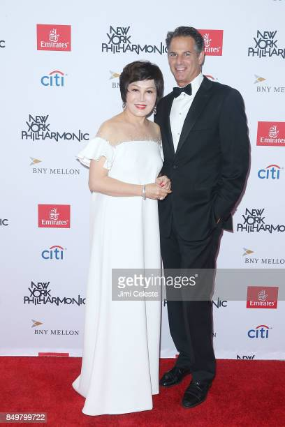YueSai Kan and Allan Pollack attends New York Philharmonic 106 AllStars Opening Gala Concert Of New York's Orchestra at David Geffen Hall on...