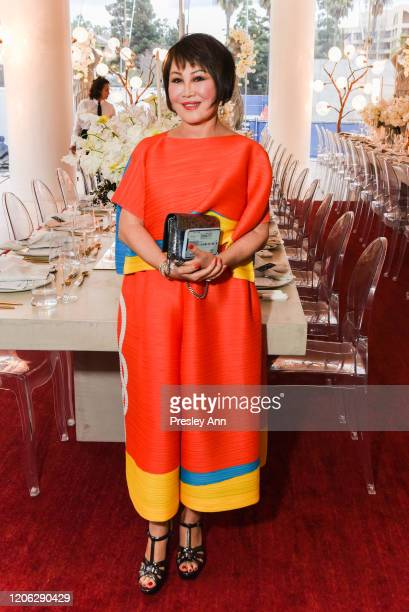 YueSai Kan attends Of Love And Rage Premiere Dinner Hosted By Elizabeth Segerstrom at Leatherby's Cafe Rouge on March 7 2020 in Costa Mesa CA