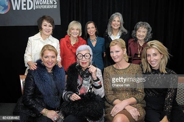 Yue-Sai Kan, Kay Koplovitz, Wendy Diamond, Joan Hornig, Tao Porchon Lynch, Mindy Grossman, Iris Apfel, Sandra Lee and Katia Beauchamp attend Women's...