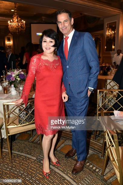 YueSai Kim and Allan Pollack attend Alzheimer's Drug Discovery Foundation's Ninth Annual Fall Symposium Luncheon at the Pierre Hotel on November 9...