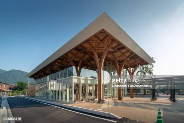 yufuin tourist information center, japan - 大分県 ストックフォトと画像