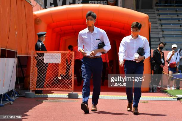 Yugo TATSUTA of Shimizu S-Pulse is seen on arrival at the stadium prior to the J.League Meiji Yasuda J1 match between Shimizu S-Pulse and Yokohama FC...