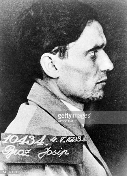 JOSIP BROZ TITO Yugoslav soldier and statesman Police photograph taken after Tito was arrested and imprisoned for Communist activity 1928