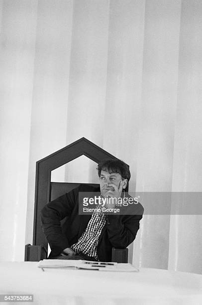 Yugoslavborn director and cartoonist Enki Bilal on the set of his movie Bunker Palace Hotel