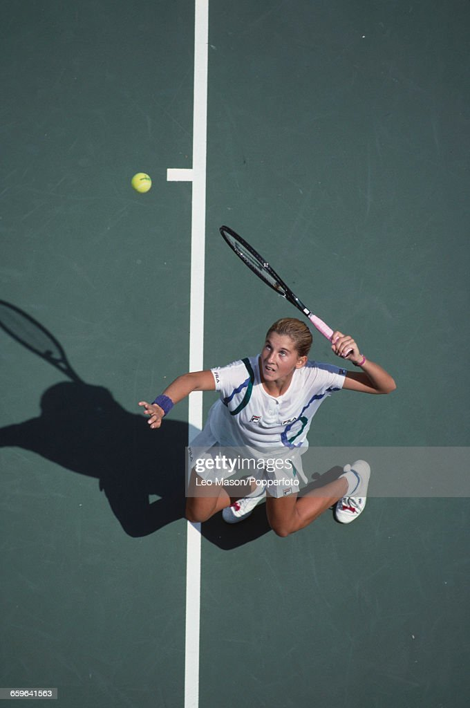 Monica Seles At 1989 US Open : News Photo