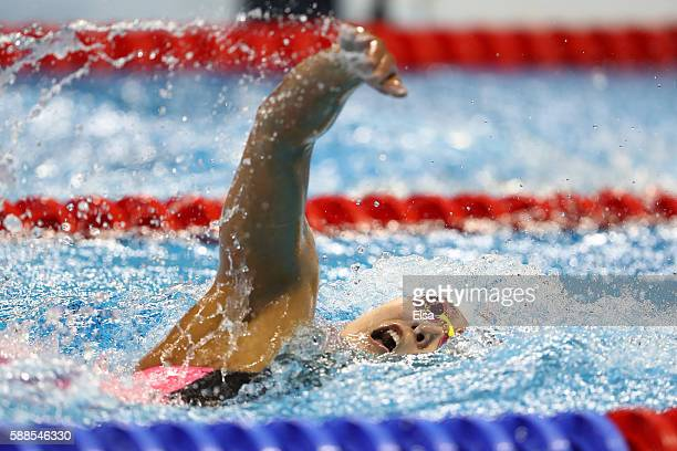 Yuhan Zhang of China competes the Women's 800m Freestyle heat on Day 6 of the Rio 2016 Olympic Games at the Olympic Aquatics Stadium on August 11...