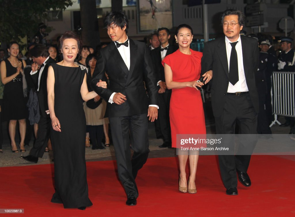 Yuh-Jung Youn, Joonsang Yu, Jiwon Ye and Sangsoo Hong attend the 'Uncle Boonmee Who Can Recall His Past Lives' Premiere at the Palais des Festivals during the 63rd Annual International Cannes Film Festival on May 21, 2010 in Cannes, France.