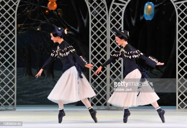 Yuhui Choe and Anna Rose O'Sullivan in The Royal Ballet's production of Frederick Ashton's Les Patineurs at The Royal Opera House on December 17 2018...