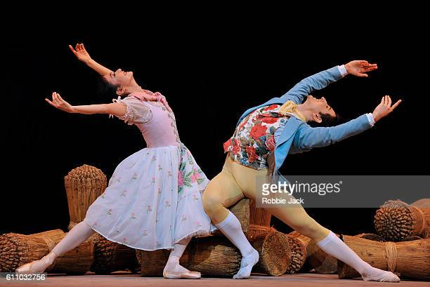 Yuhui Choe as Lise and Valentino Zucchetti as Colas in the Royal Ballet's production of Frederick Ashton's La Fille Mal Gardee at The Royal Opera...