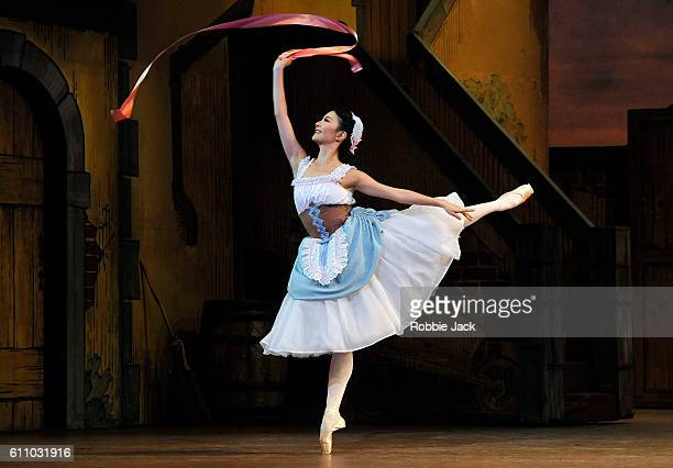 Yuhui Choe as Lise in the Royal Ballet's production of Frederick Ashton's La Fille Mal Gardee at The Royal Opera House on September 27 2016 in London...