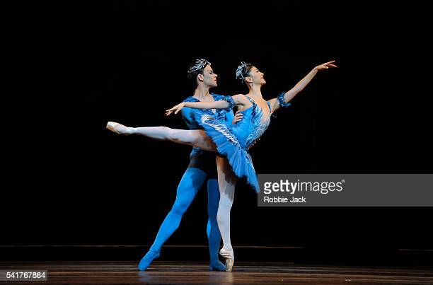 Yuhui Choe as Princess Florine and Alexander Campbell as the Bluebird in the Royal Ballet's production of Marius Petipa's 'The Sleeping Beauty' at...