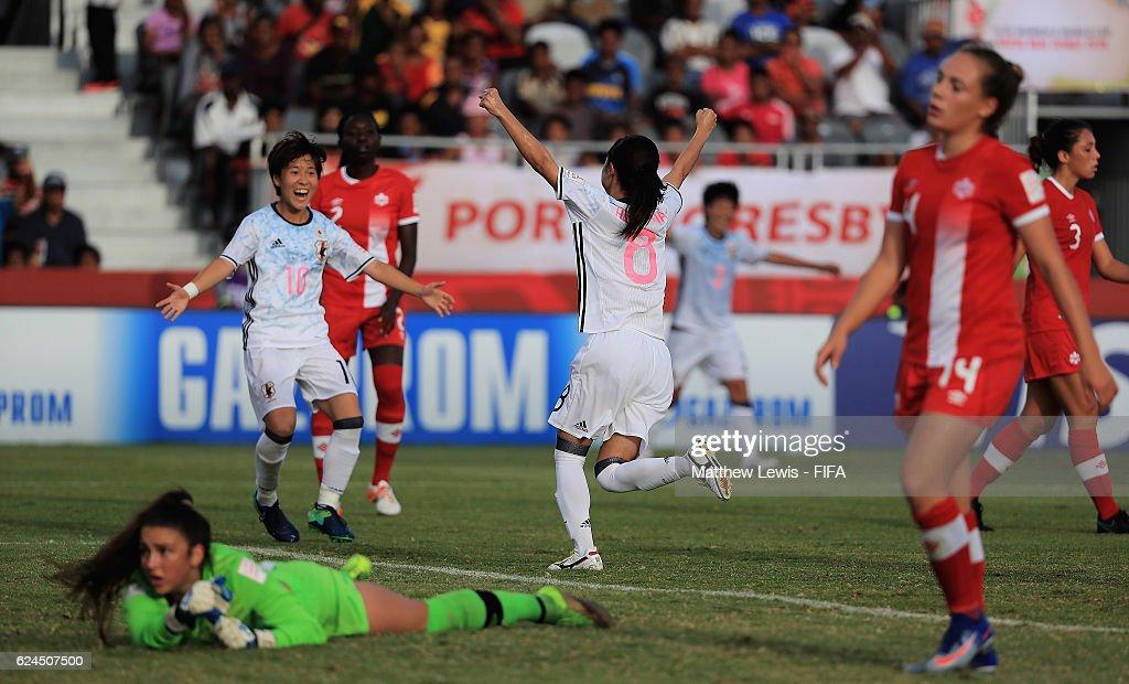 Canada v Japan: Group B - FIFA U-20 Women's World Cup Papua New Guinea 2016 : News Photo