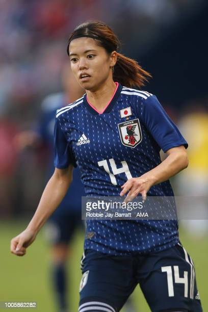 Yui Hasegawa of Japan during the 2018 Tournament Of Nations women's match between Japan v United States of America at Children's Mercy Park on July...