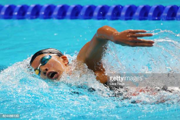 Yui Ohashi of Japan competes during the Women's 400m Individual Medley on day seventeen of the Budapest 2017 FINA World Championships on July 30 2017...