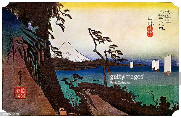 'Yui, Satta Peak', 1830s . No17 of the first Tokaido series. A print from The Colour Prints of Hiroshige by Edward F Strange, Cassell and Company...