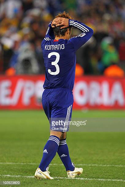 Yuichi Komano of Japan shows his dejection after missing in a penalty shootout during the 2010 FIFA World Cup South Africa Round of Sixteen match...