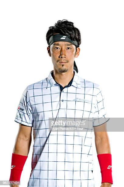 Yuichi Sugita of Japan poses for portraits during the Australian Open at Melbourne Park on January 13 2018 in Melbourne Australia