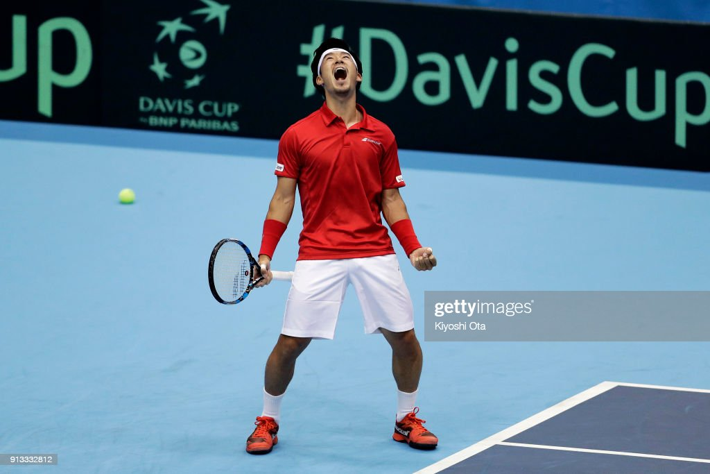 Japan v Italy - Davis Cup World Group 1st Round - Day 1