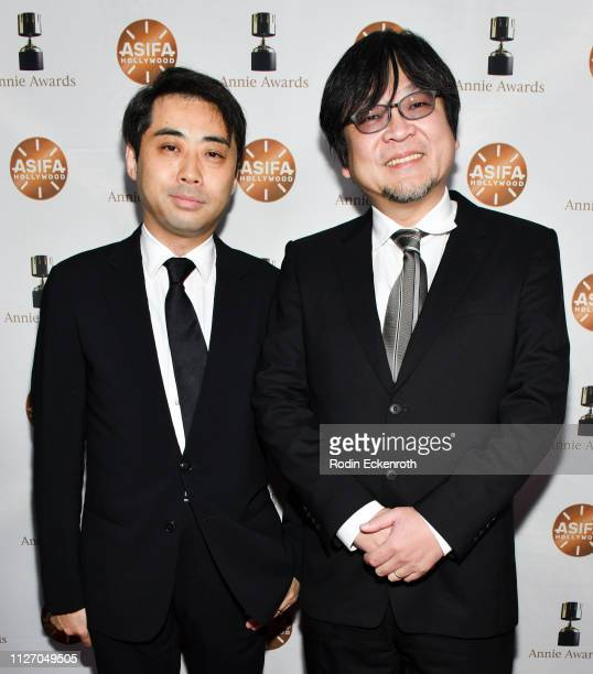 Yuichiro Saito and Mamoru Hosoda attend the 46th Annual Annie Awards at Royce Hall UCLA on February 02 2019 in Westwood California