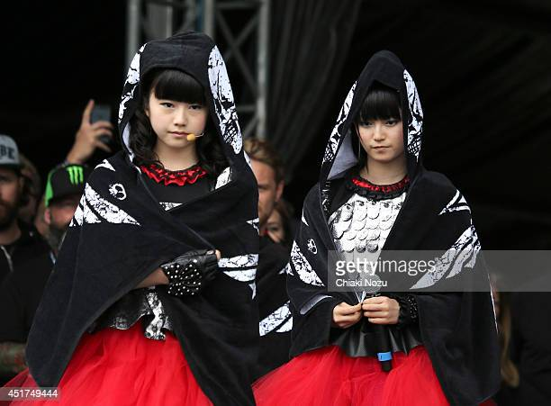 Yuimetal and Sumetal of Babymetal perform at Day 2 of the Sonisphere Festival at Knebworth Park on July 5 2014 in Knebworth England