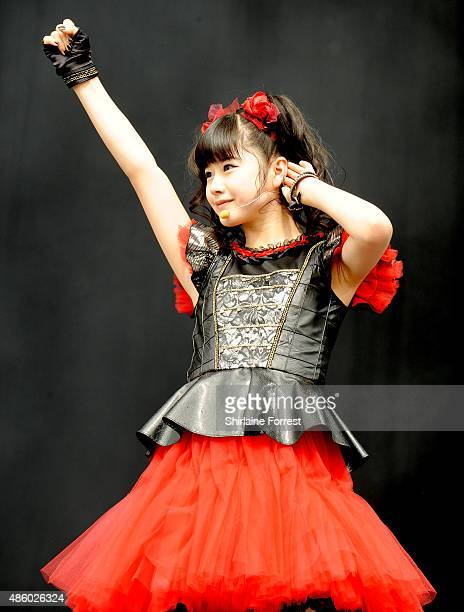 Yuimetal of Babymetal performs on day 3 of The Leeds Festival at Bramham Park on August 30 2015 in Leeds England